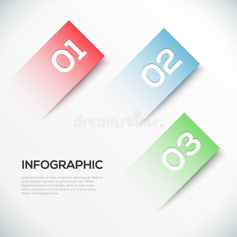 3D papel abstracto Infographics stock de ilustración