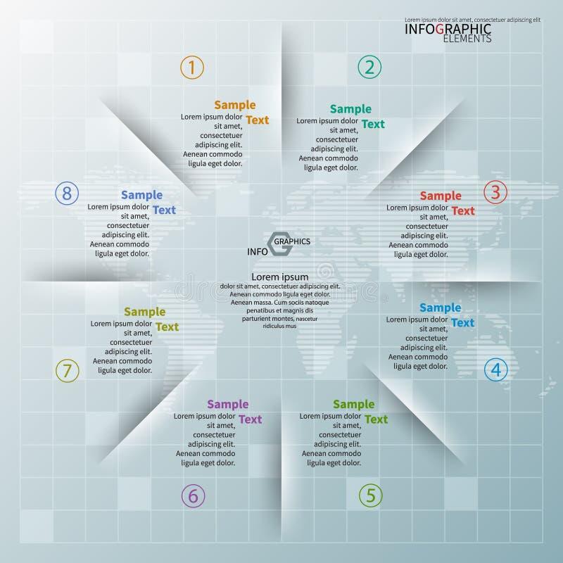 3D papel abstracto Infographics ilustración del vector