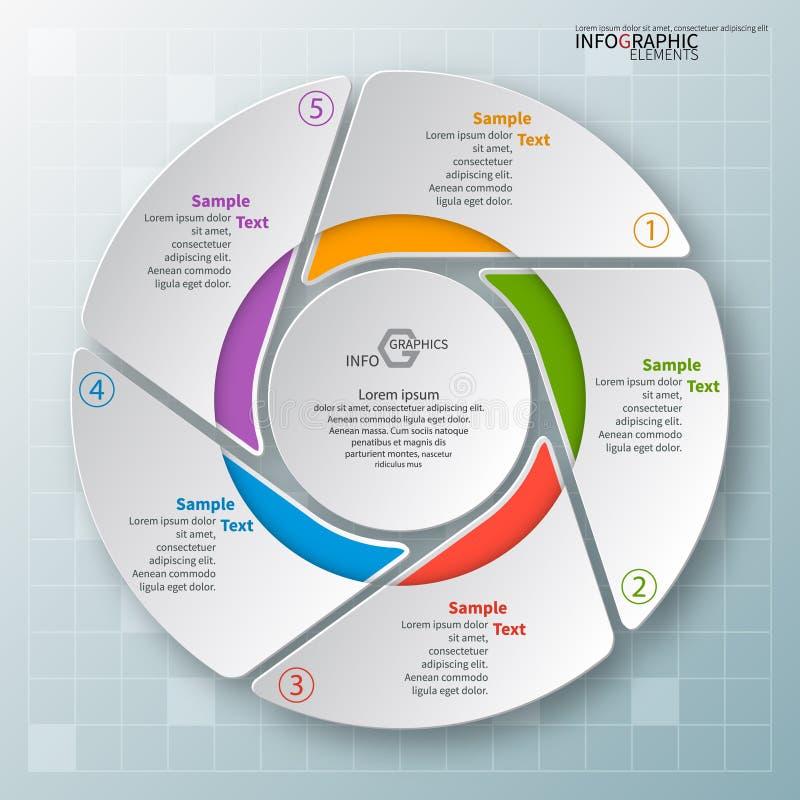 3D papel abstrato Infographics ilustração royalty free