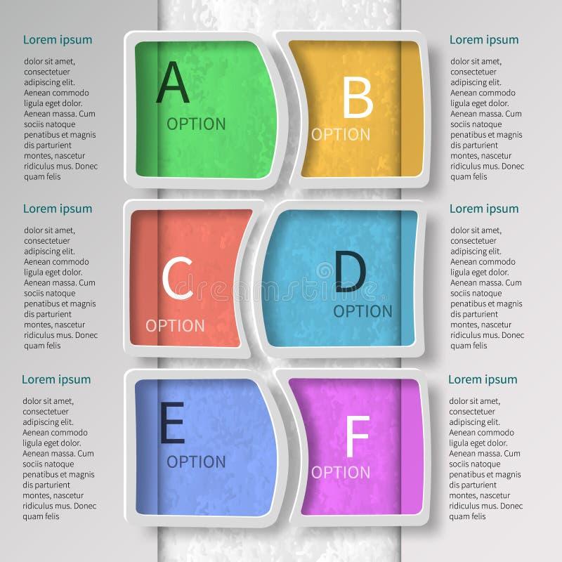 3D papel abstrato Infographics ilustração do vetor
