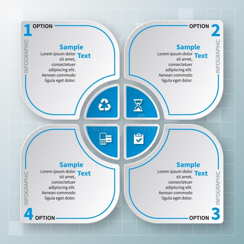 3D papel abstrato Infographics Molde do negócio Ilustração do vetor ilustração do vetor