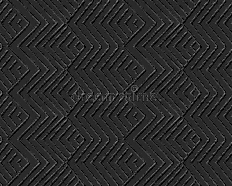 3D paper art geometry check sawtooth cross line. Can be used for both print and web page royalty free illustration