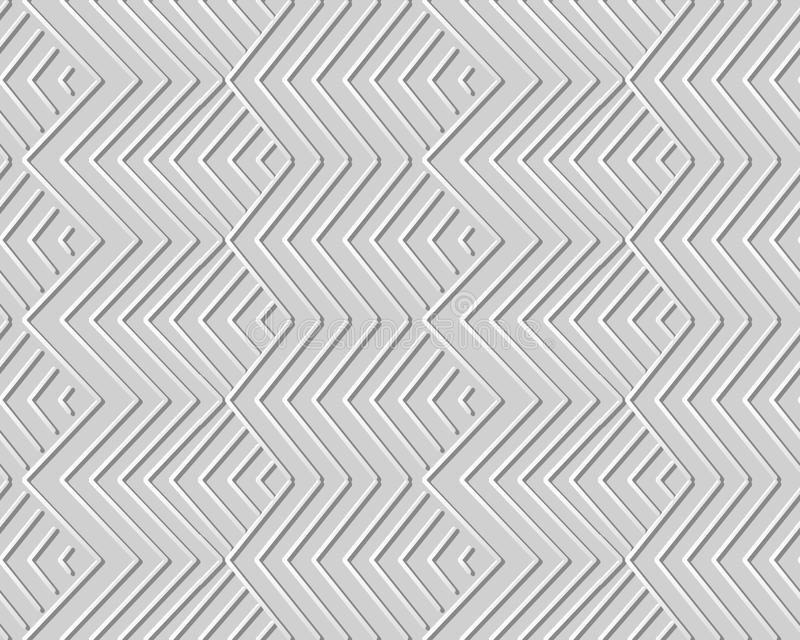 3D paper art geometry check sawtooth cross line. Can be used for both print and web page vector illustration