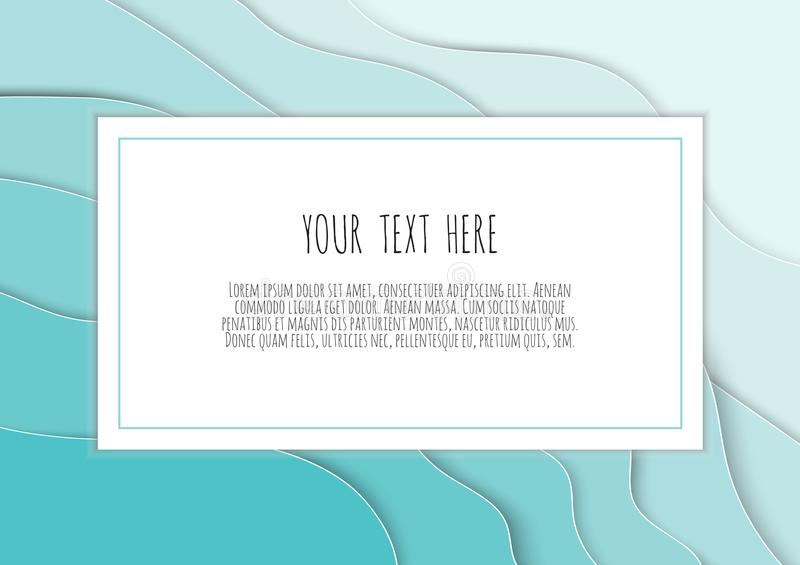 3D blue papercut layers vector background design. Paper cut style, space for text, vector illustration. 3D papercut layers vector background design. Paper cut vector illustration