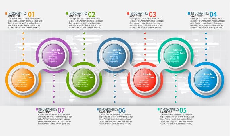 3D papier abstrait Infographics Descripteur d'affaires Illustration de vecteur image stock