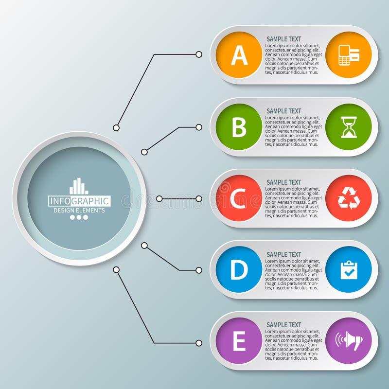 3D papier abstrait Infographics Descripteur d'affaires Illustration de vecteur illustration libre de droits