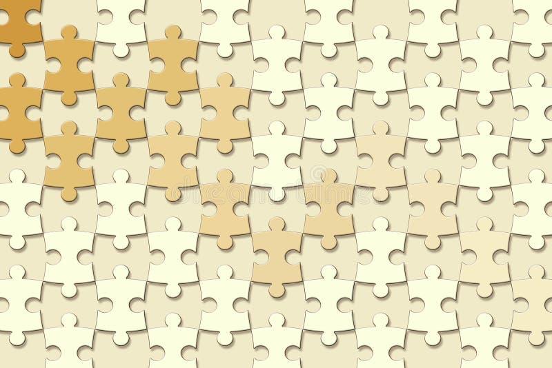 3d papier peint, morceaux de puzzle denteux sur le fond jaune illustration de vecteur