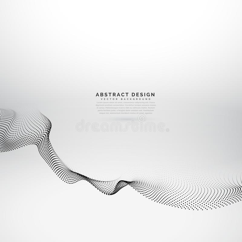 3d particles wave style abstract background stock illustration