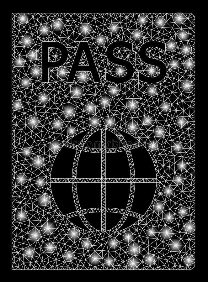 2D pass för ljust ingrepp med ljusa fläckar royaltyfri illustrationer