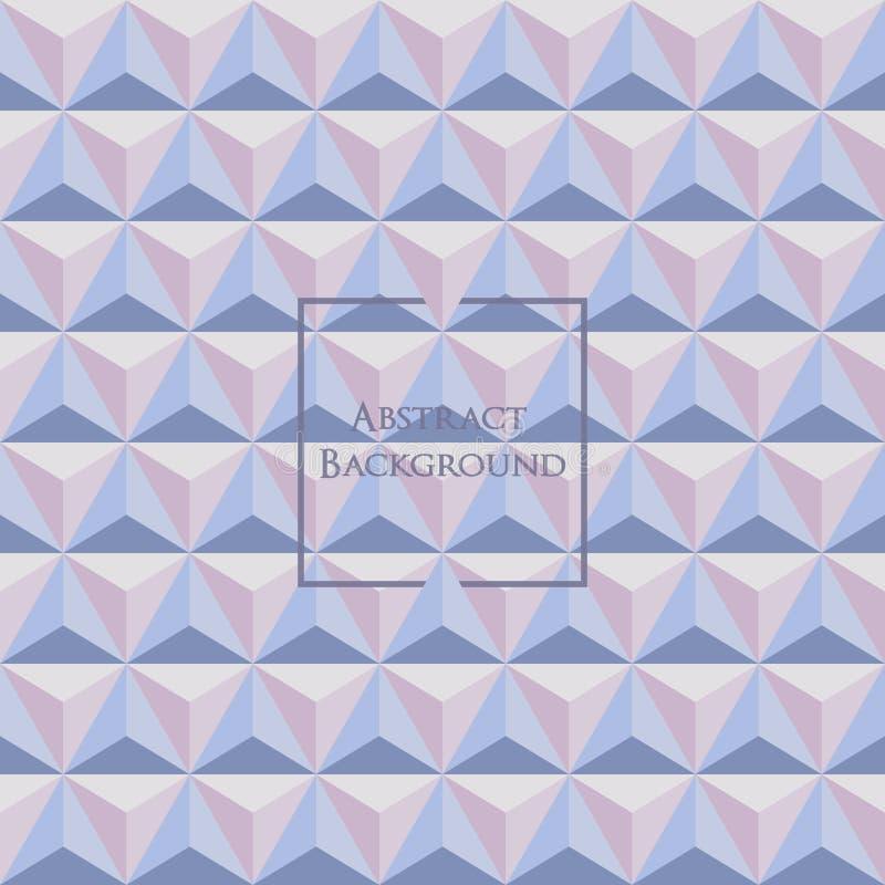 3d pastelkleur Rose Quartz en Sereniteit gekleurd driehoeks naadloos patroon stock illustratie