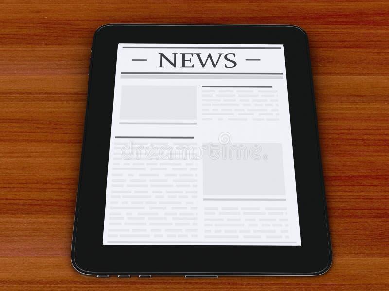 3d pastylki cyfrowy komputer osobisty z wiadomością Medialny pojęcie ilustracji