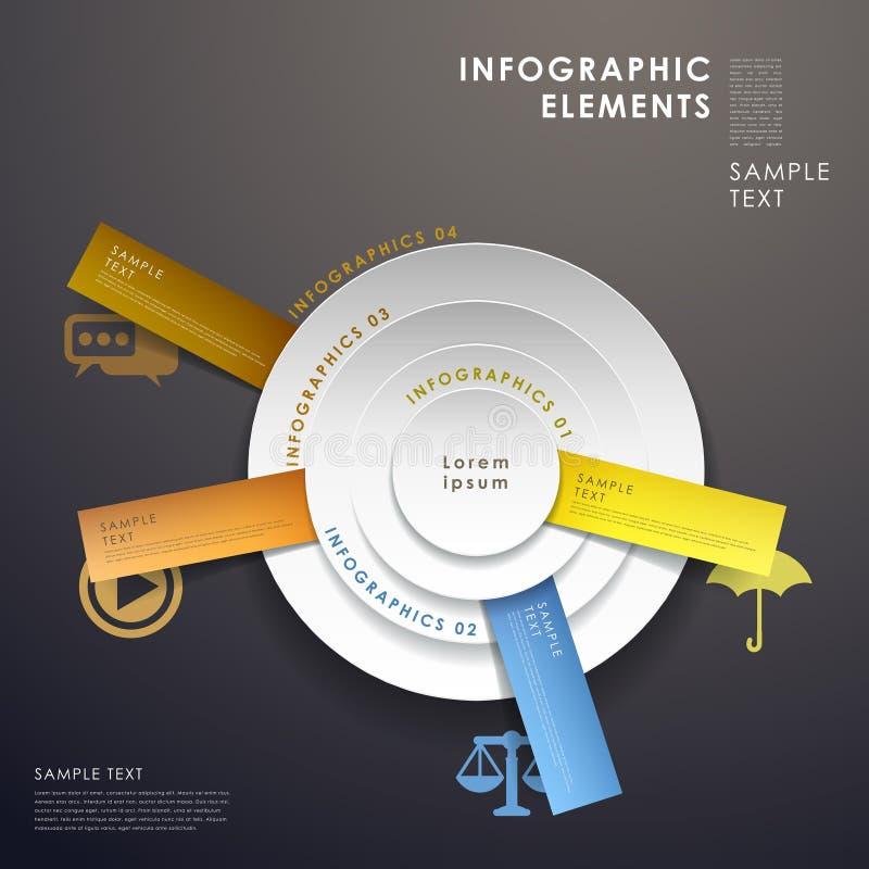 3d pasztetowej mapy abstrakcjonistyczny infographics ilustracja wektor