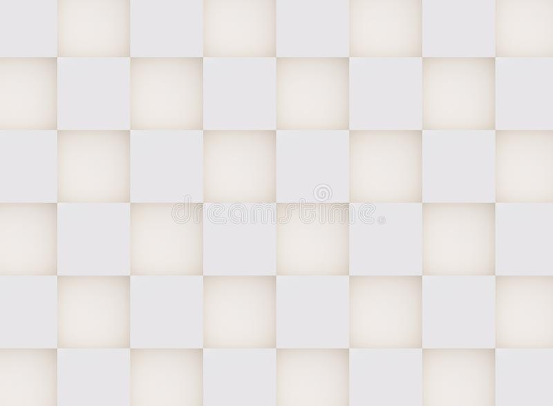 3D pattern white and beige geometric shapes. 3D pattern made of white and beige geometric shapes, creative background or wallpaper surface made of light and stock image
