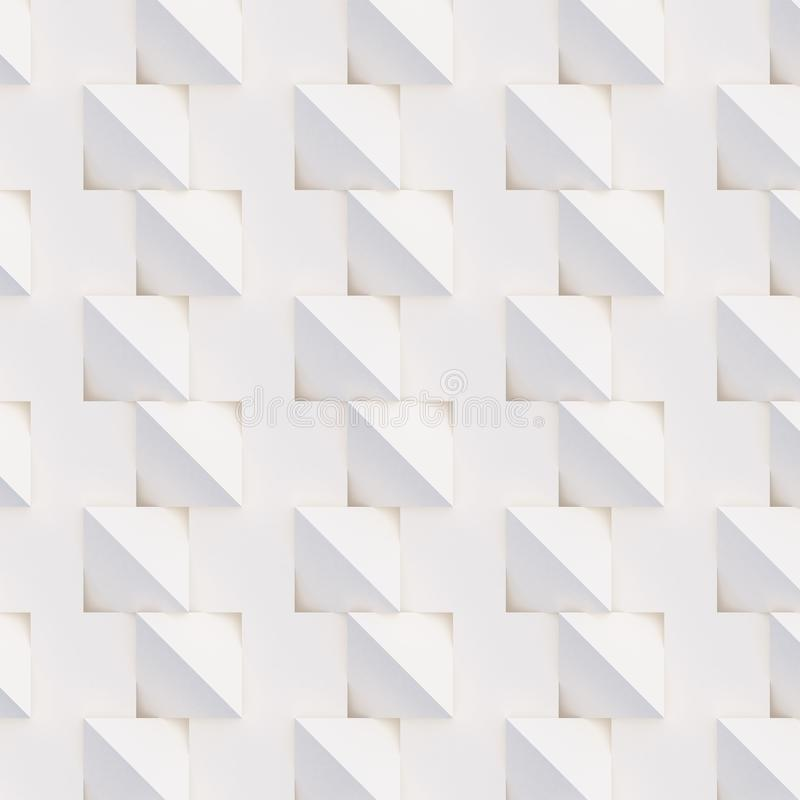 3D pattern of white and beige geometric shapes. 3D pattern made of white and beige geometric shapes, creative background or wallpaper surface made of light and stock photos