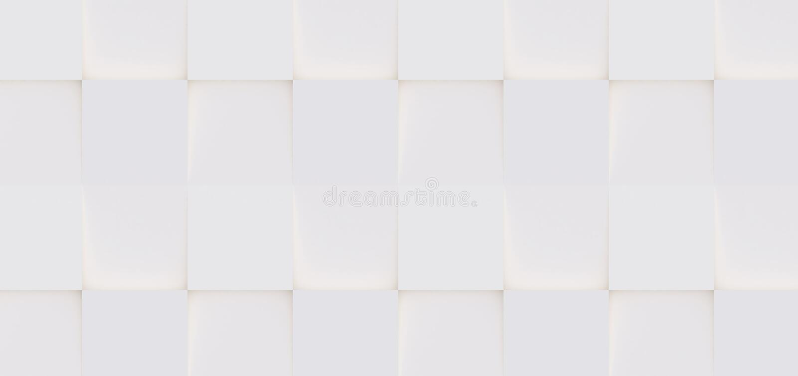 3D pattern of white and beige geometric shaped. 3D pattern made of white and beige geometric shapes, creative background or wallpaper surface made of light and stock image