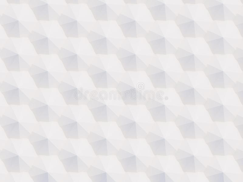 3D pattern of white and beige geometric shapes. 3D pattern made of white and beige geometric shapes, creative background or wallpaper surface made of light and stock image
