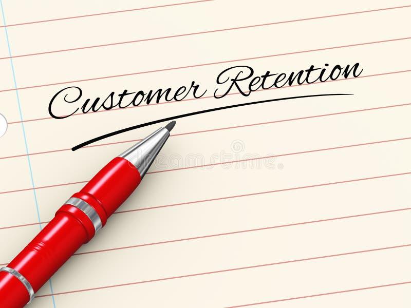 3d pen op papier - klantenbehoud vector illustratie