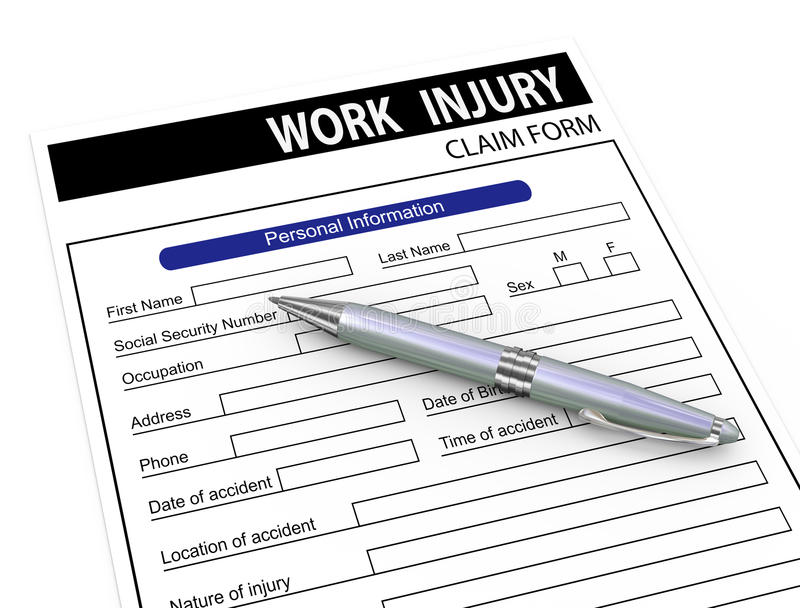 Download 3d Pen And Work Injury Claim Form Stock Illustration - Image: 31821182