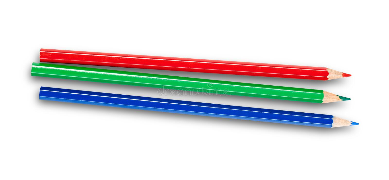 3d pencils rgb-white royaltyfria foton