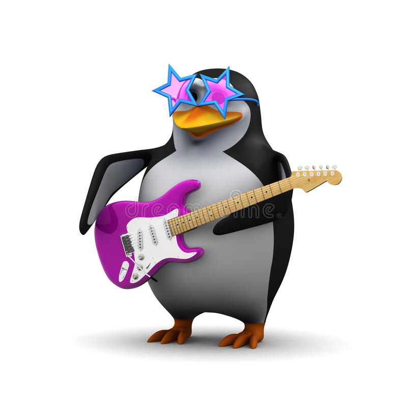 Download 3d Penguin Gets Funky Stock Illustration Of Creature