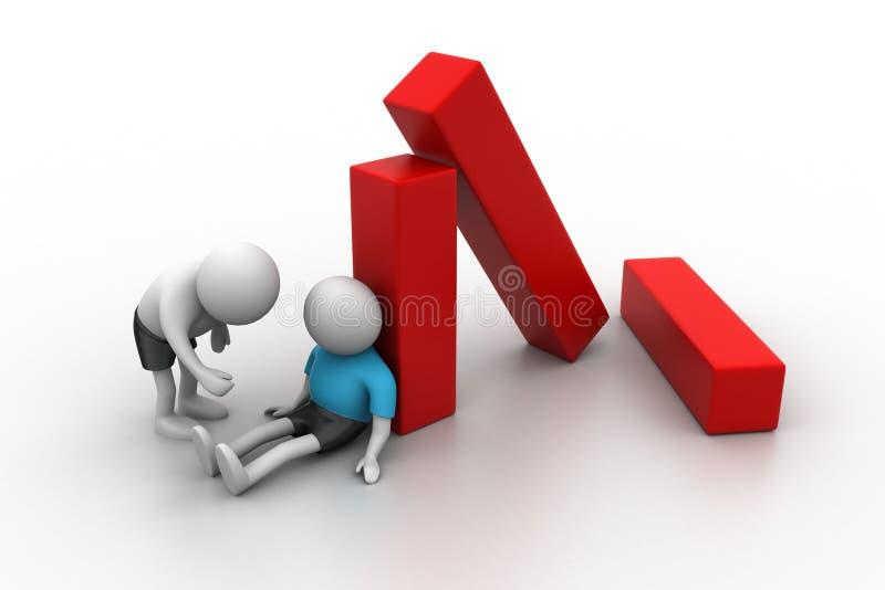 Download 3d People, Business Loss Concept Stock Illustration - Illustration: 36971232