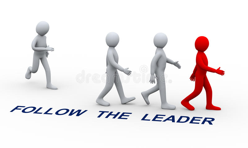 Download 3d people following leader stock illustration. Image of joining - 30459915