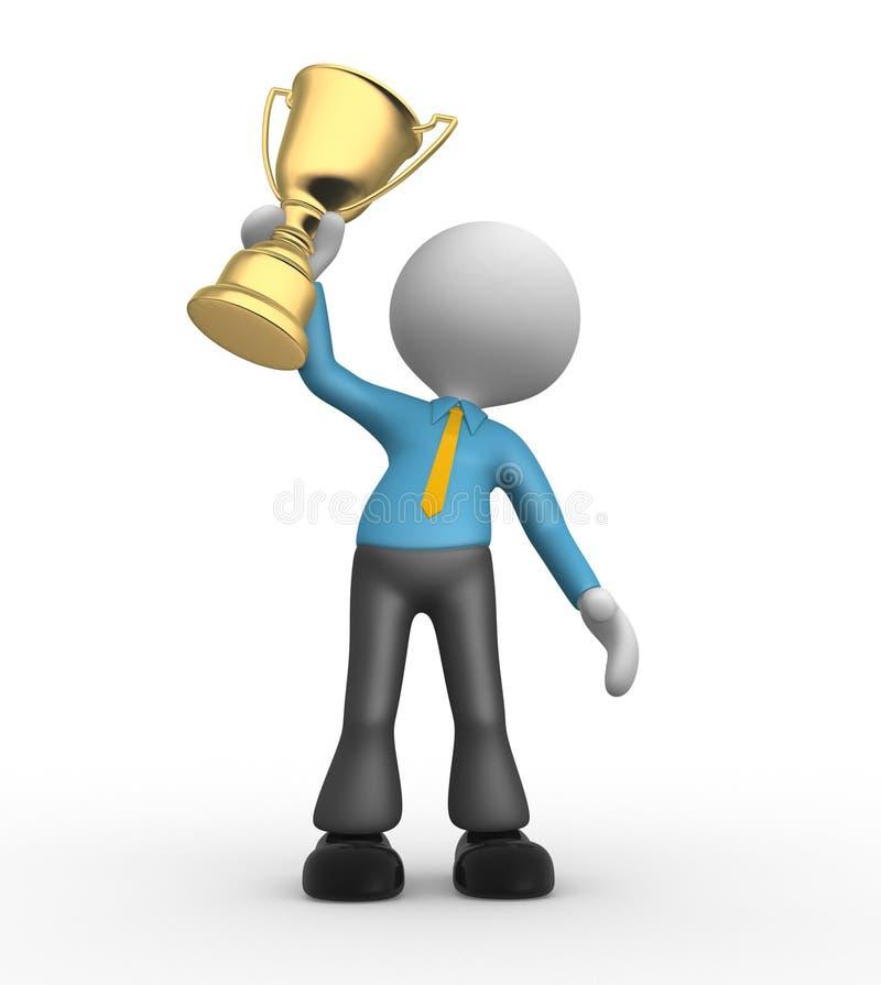 Gold trophy royalty free illustration