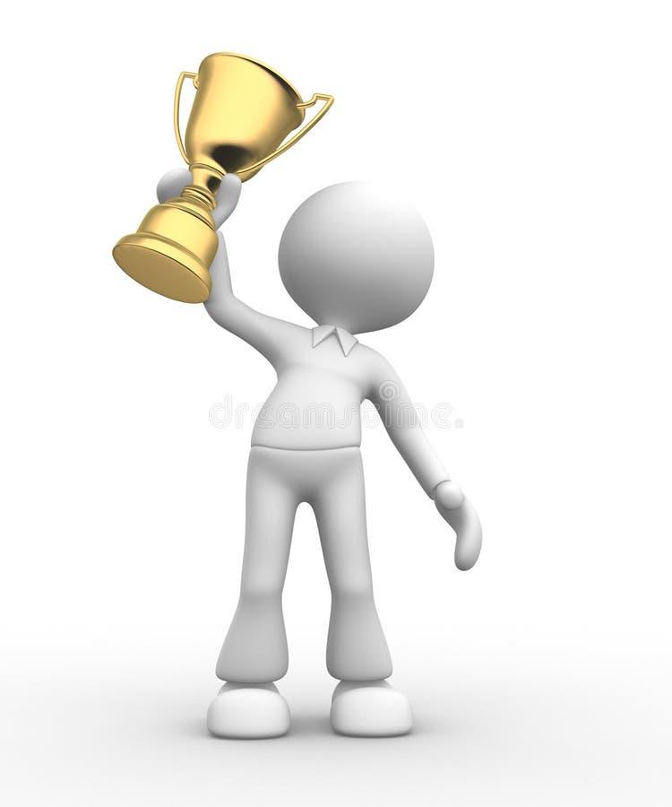 Gold trophy vector illustration