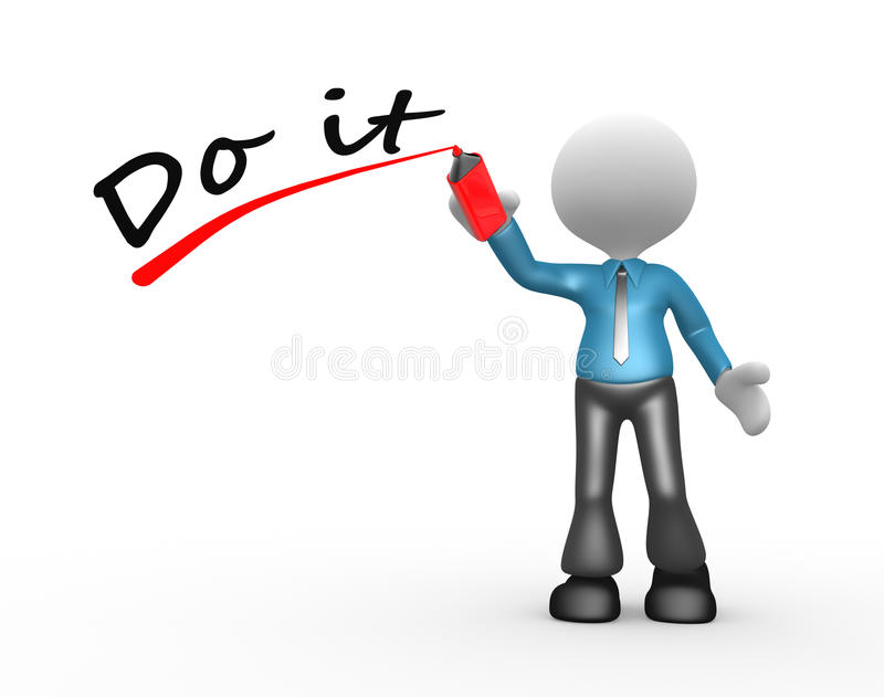 Download Do it stock illustration. Image of help, communicate - 30047464