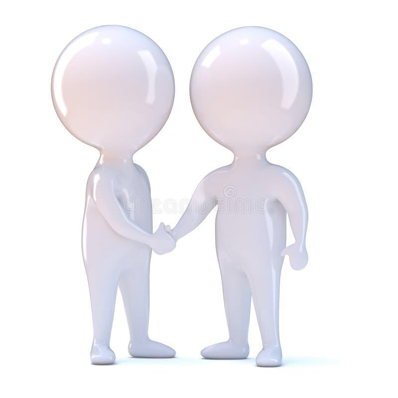 Download 3d People shake hands stock illustration. Image of illustration - 39304525