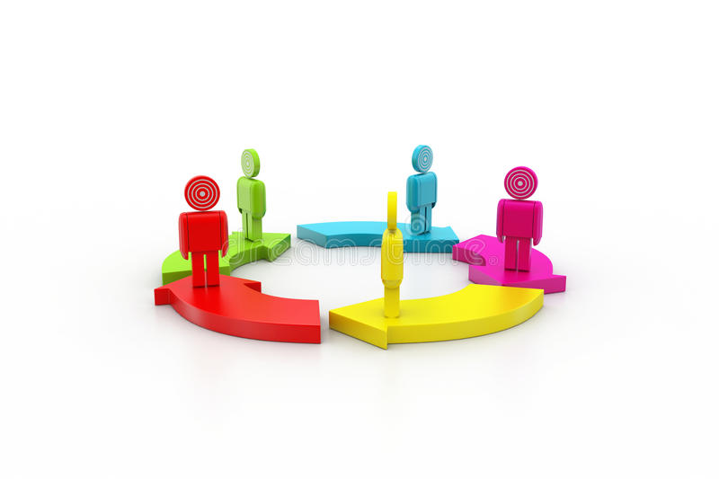 3d people standing stock illustration