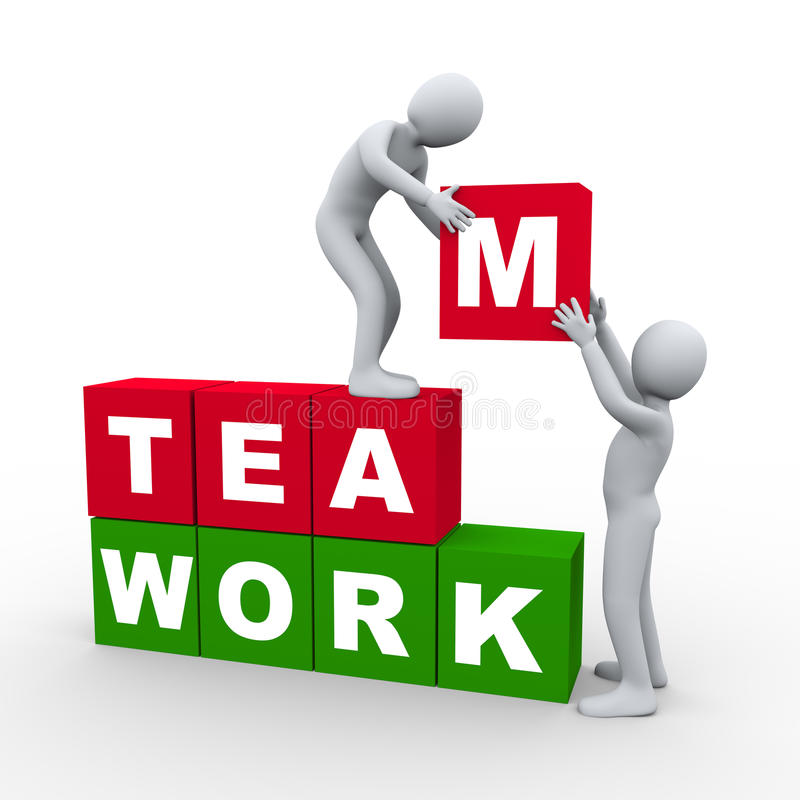 3d people teamwork concept stock illustration