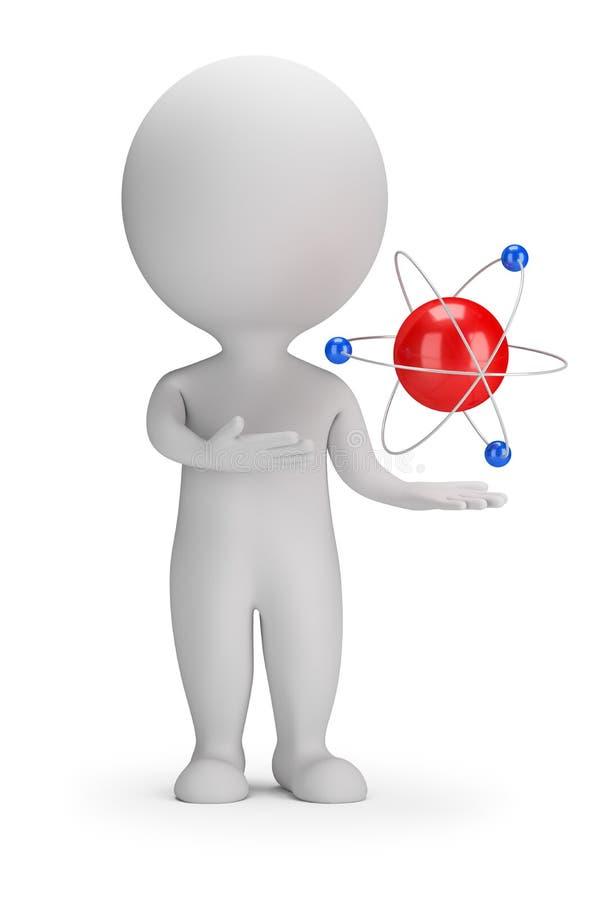 3d pequeña gente - átomo ilustración del vector