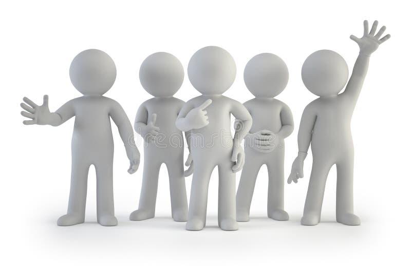3d pequeña gente - el mejor grupo ilustración del vector