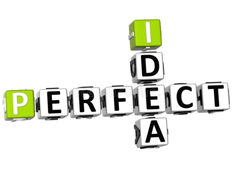 3D perfectionnent des mots croisé d'idée illustration stock