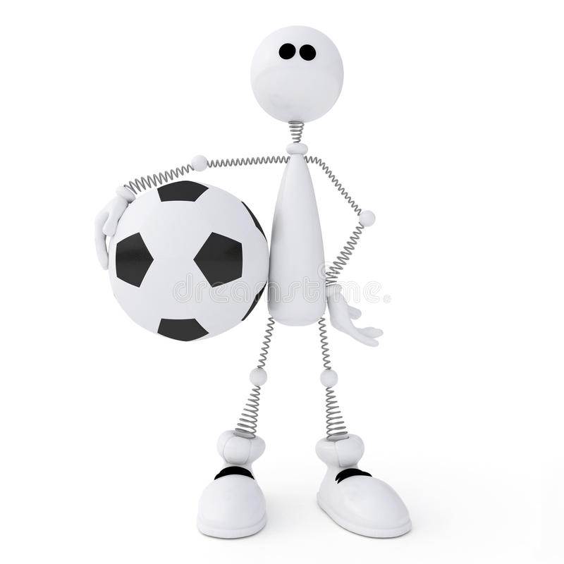 3d Person Football Player. Royalty Free Stock Photography