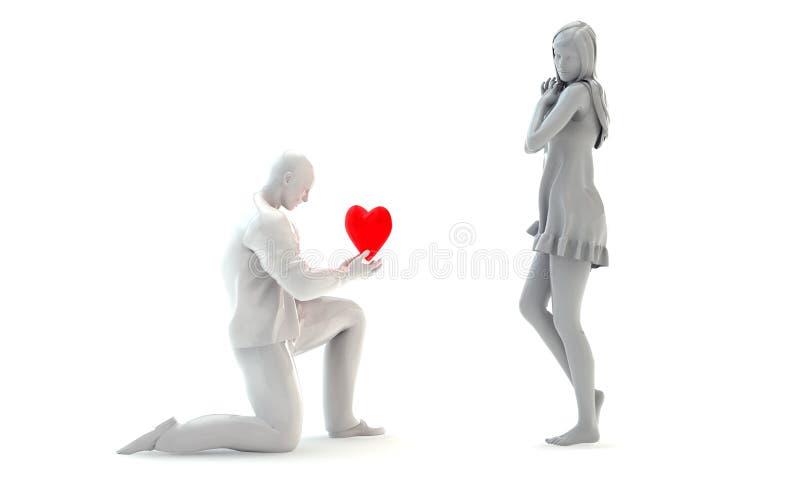 3d personnage de dessin anim type dans l 39 amour illustration stock illustration du coeur - Dessin de l amour ...