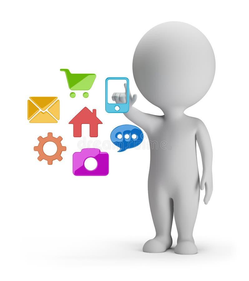 3d petites personnes - choix des applications illustration stock