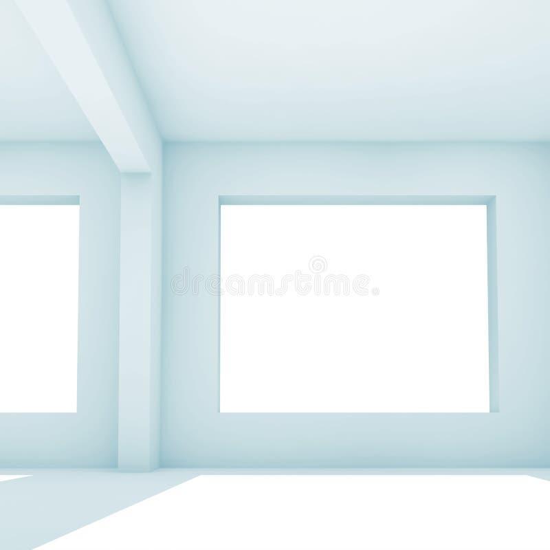 3d pièce blanche vide, vue de face illustration stock