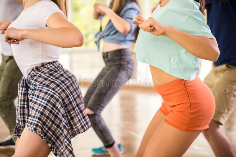 3d piękni dancingowi ilustracyjni ludzie trzy bardzo fotografia stock