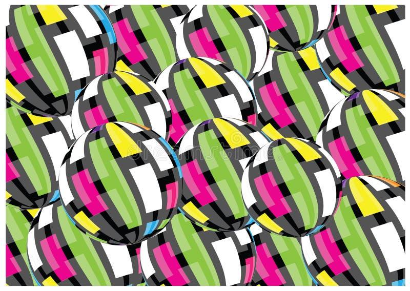 3D piłek wektorowy retro tło obraz stock