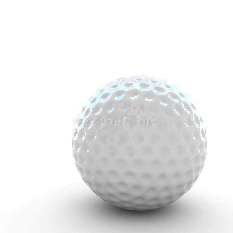 3d piłka golfowa odizolowywająca ilustracja wektor