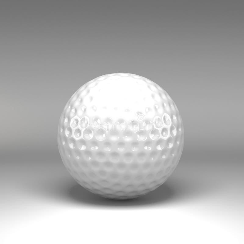 3d piłka golfowa odizolowywająca royalty ilustracja