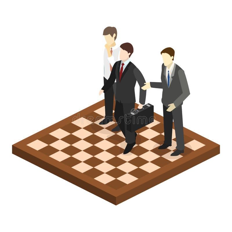 3D piano isometrico ha isolato la strategia del mercato aziendale del orporate di concetto royalty illustrazione gratis