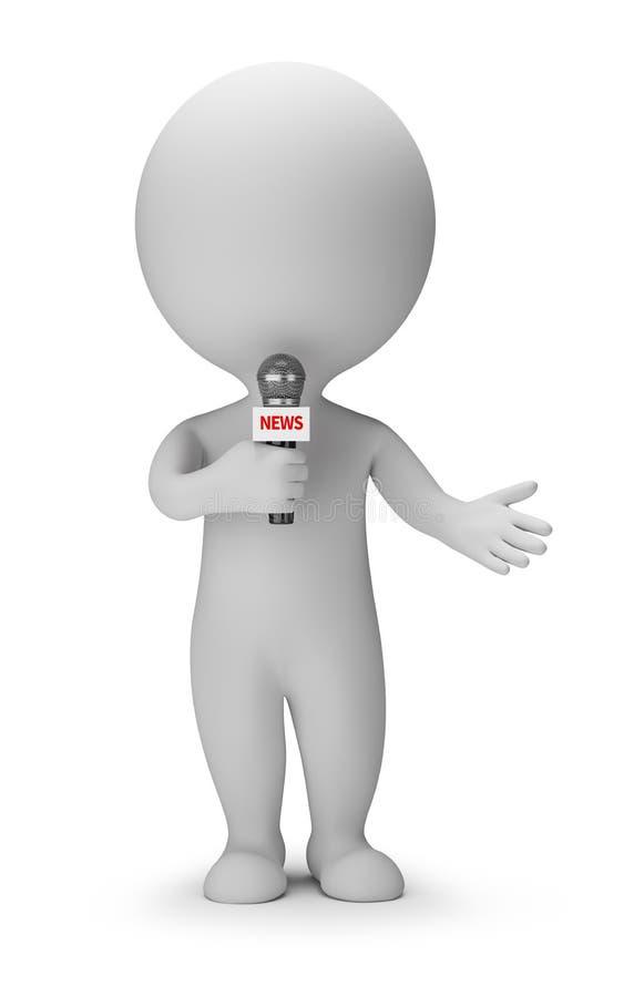 3d piccola gente - relatore di notizie royalty illustrazione gratis