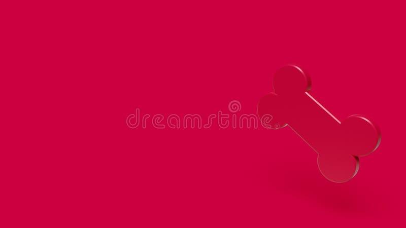 3D pictogram van been met rode achtergrond stock afbeelding