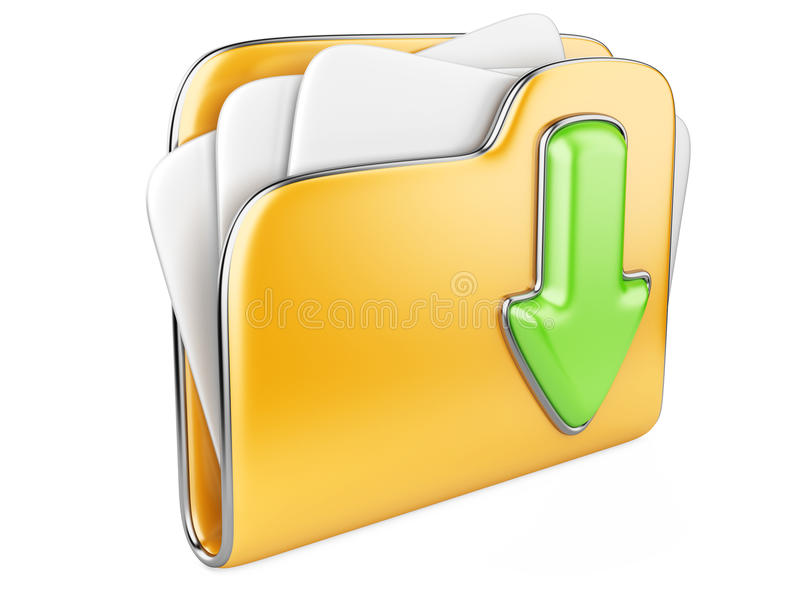 3d pictogram van de downloadomslag. royalty-vrije illustratie