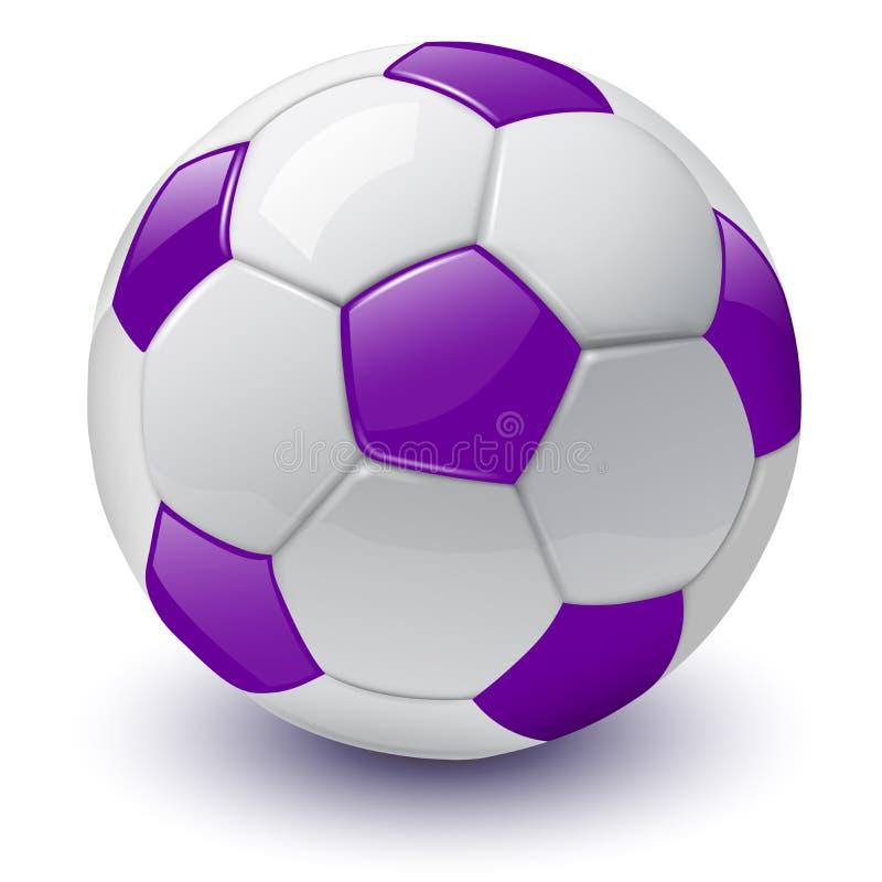 3D pictogram van de voetbalbal royalty-vrije illustratie