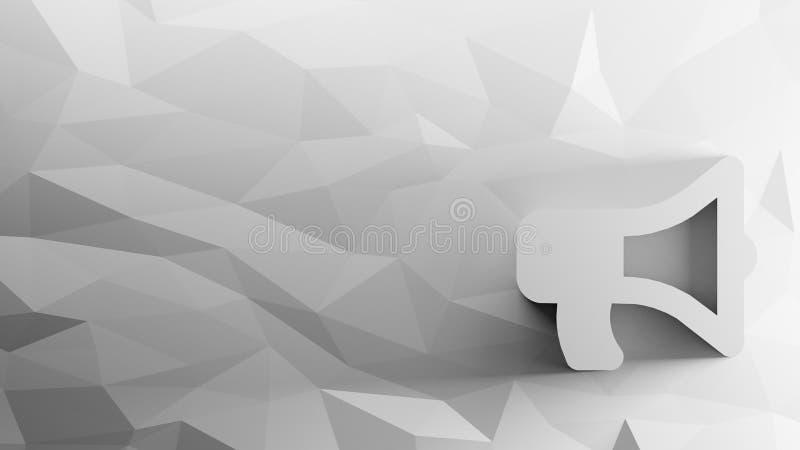 3d pictogram van megafoon stock illustratie