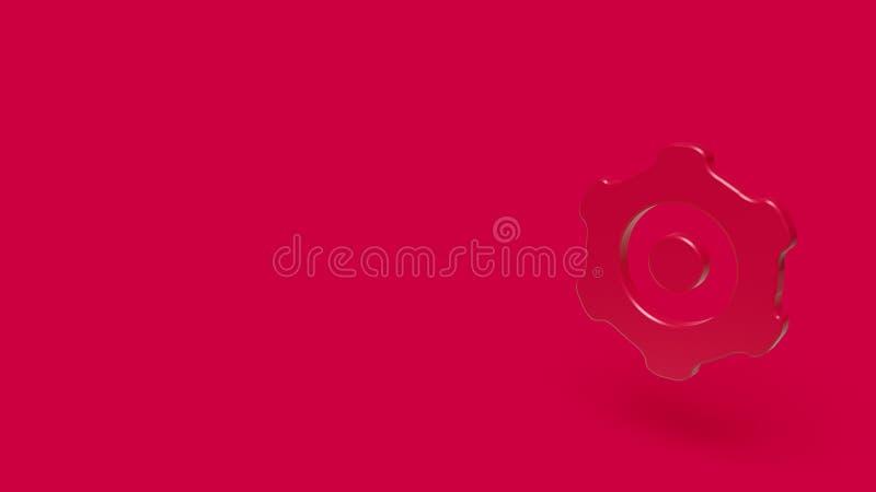 3D pictogram van toestel met rode achtergrond royalty-vrije illustratie